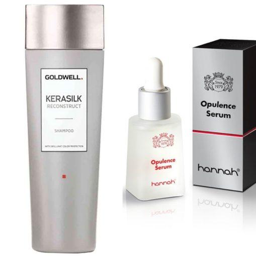 opulence serum en kerasilk shampoo